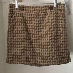 Tan Loft Houndstooth skirt